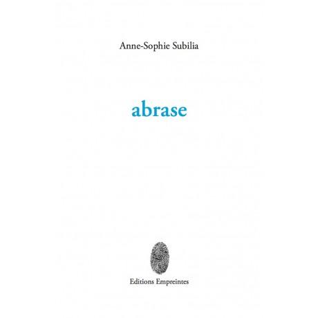 abrase, Anne-Sophie Subilia