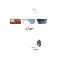 Livres 1984-2011, catalogue
